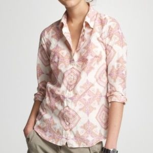 J. Crew Jaipur Silk Paisley Button-Down Shirt